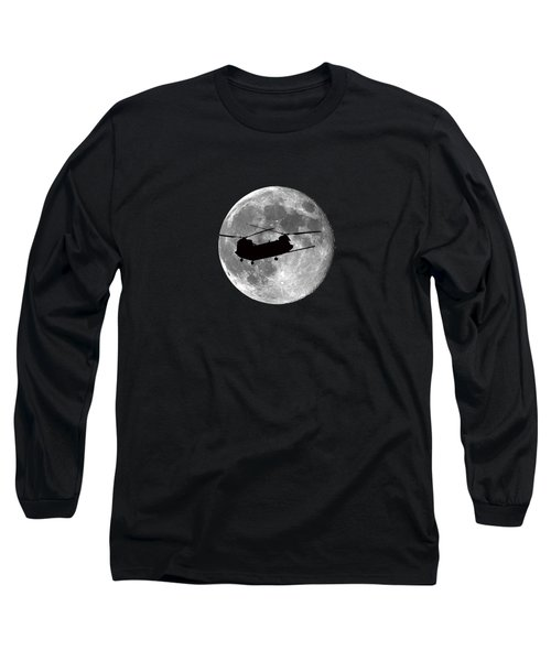 Chinook Moon .png Long Sleeve T-Shirt