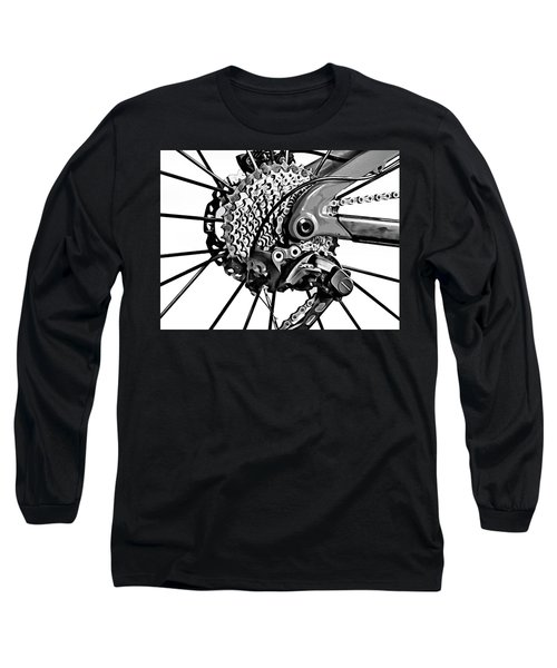 Long Sleeve T-Shirt featuring the digital art Choice Transport 2 Bw by Wendy J St Christopher