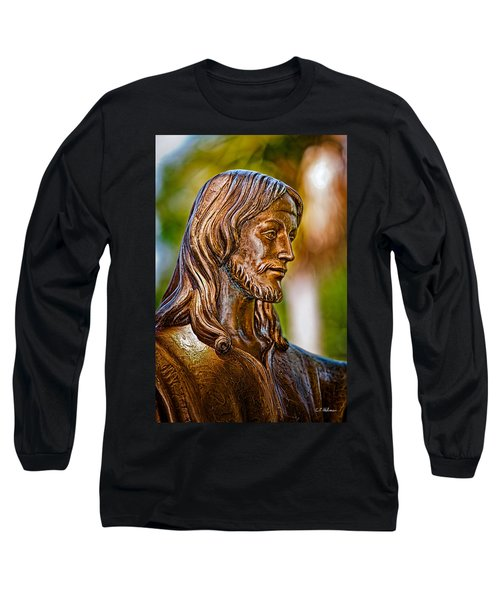 Christ In Bronze Long Sleeve T-Shirt by Christopher Holmes