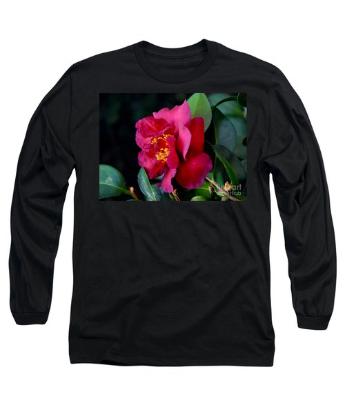 Christmas Camellia Long Sleeve T-Shirt