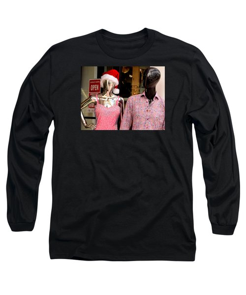 Christmas In Miami Beach Long Sleeve T-Shirt by David Gilbert