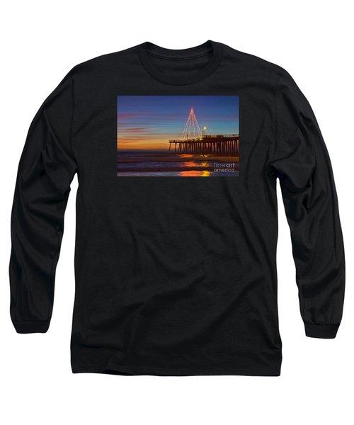 Christmas Lights On The Pismo Pier Long Sleeve T-Shirt
