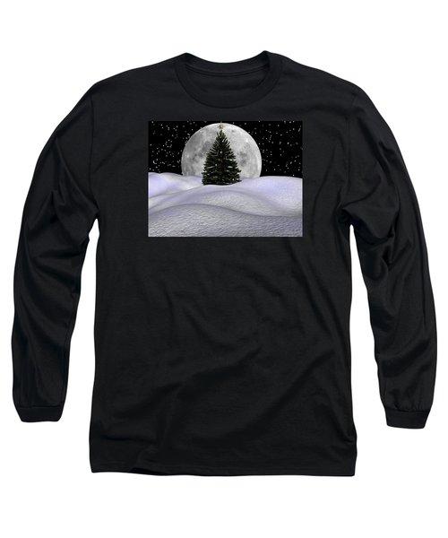 Christmas Moon Long Sleeve T-Shirt by Michele Wilson