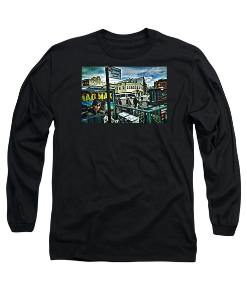 Christopher Street Greenwich Village  Long Sleeve T-Shirt by Joan Reese