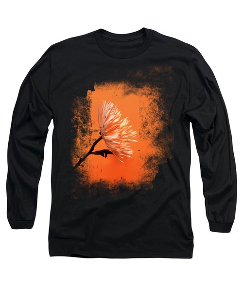 Chrysanthemum Orange Long Sleeve T-Shirt by Mark Rogan