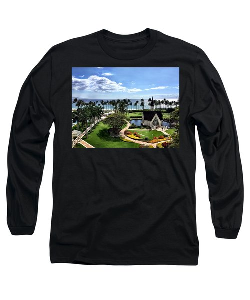 Long Sleeve T-Shirt featuring the photograph Church In Paradise by Michael Albright