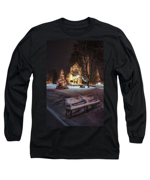 Church Of St Mary St Paul At Christmas Long Sleeve T-Shirt
