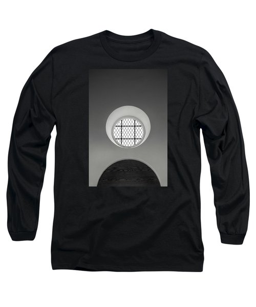 Church Window In Black And White Long Sleeve T-Shirt