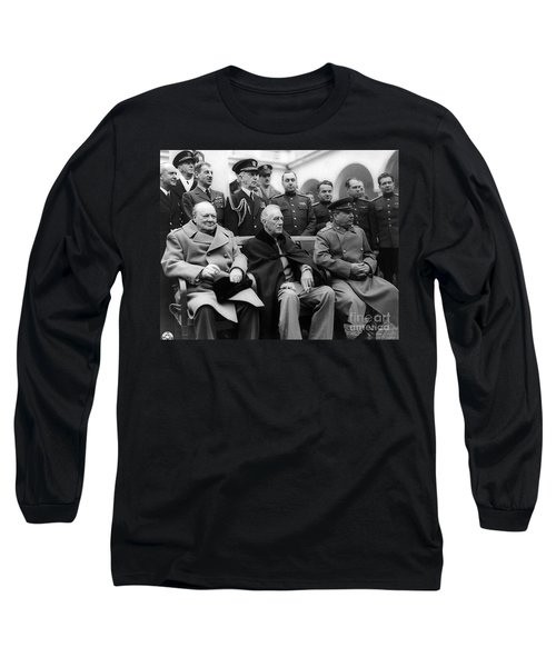 Churchill, Roosevelt And Stalin Long Sleeve T-Shirt