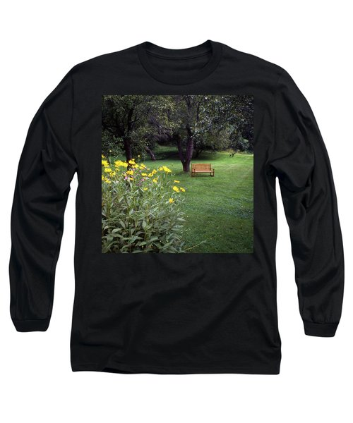 Churchyard Bench - Woodstock, Vermont Long Sleeve T-Shirt