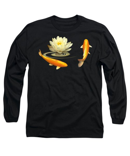 Circle Of Life - Koi Carp With Water Lily Long Sleeve T-Shirt