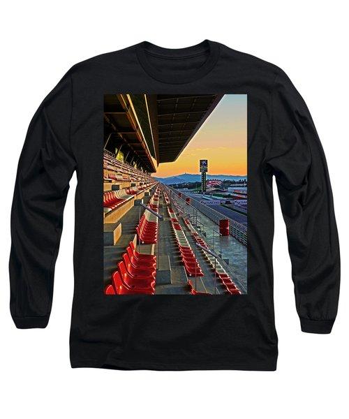 Circuit De Catalunya - Barcelona  Long Sleeve T-Shirt by Juergen Weiss
