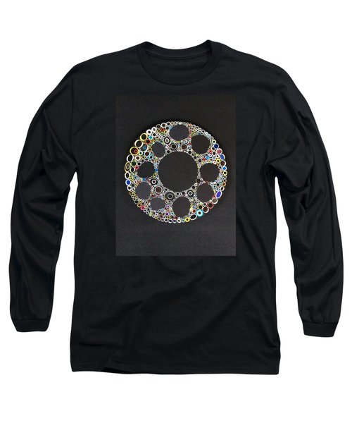 Circular Convergence Of Mutated Molecules Long Sleeve T-Shirt by Douglas Fromm