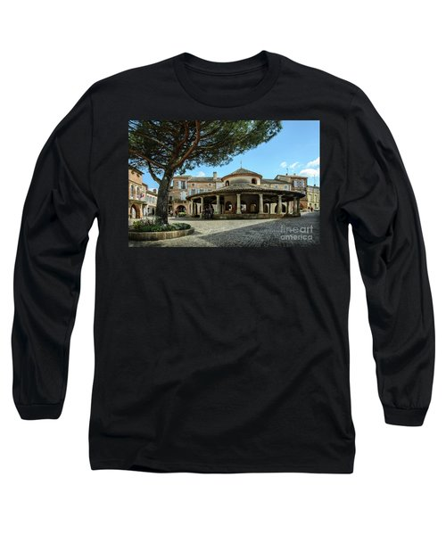 Circular Grain Market In Auvillar Long Sleeve T-Shirt by RicardMN Photography
