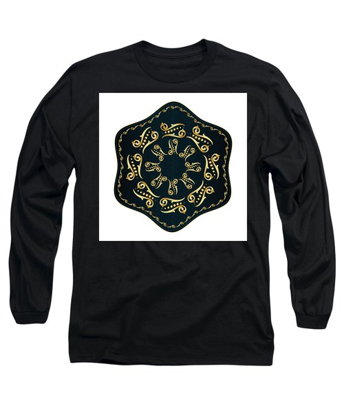 Circularium No. 2560 Long Sleeve T-Shirt by Alan Bennington