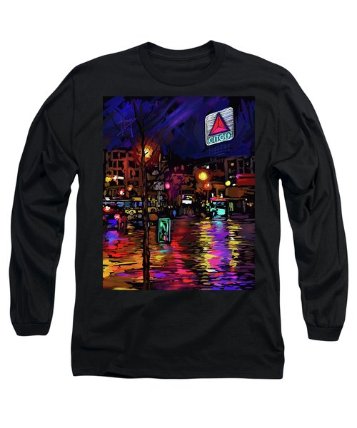 Citgo Sign, Boston Long Sleeve T-Shirt by DC Langer