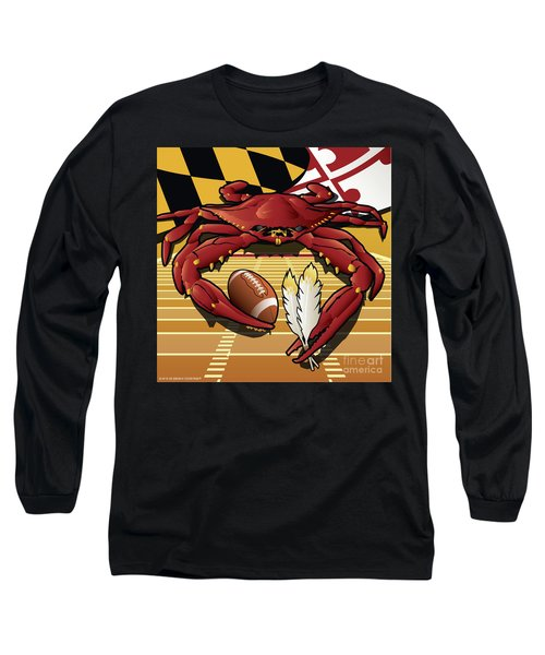 Citizen Crab Redskin, Maryland Crab Celebrating Washington Redskins Football Long Sleeve T-Shirt