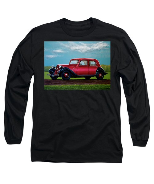 Citroen Traction Avant 1934 Painting Long Sleeve T-Shirt