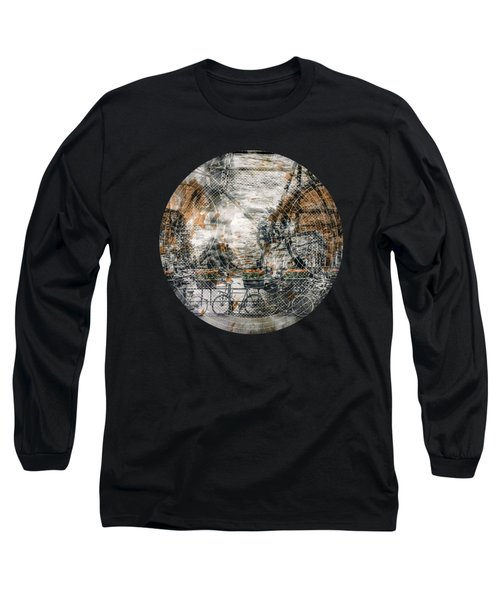 City-art Amsterdam Bicycles  Long Sleeve T-Shirt by Melanie Viola