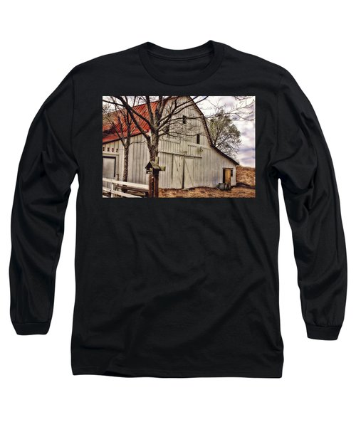 Long Sleeve T-Shirt featuring the photograph City Barn by Joan Bertucci