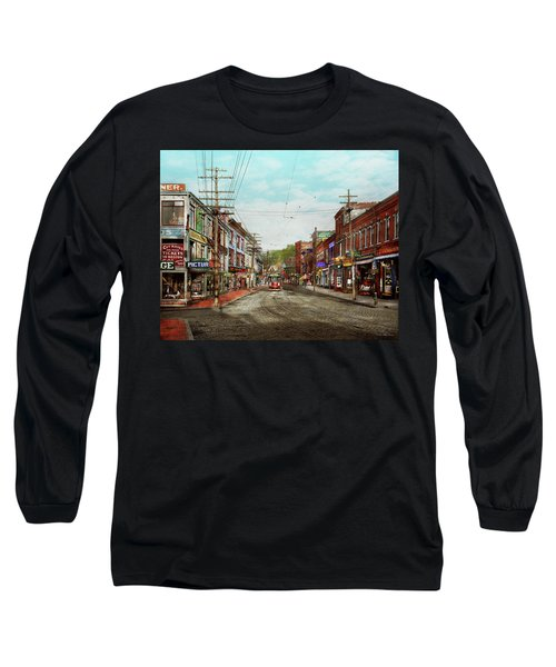 Long Sleeve T-Shirt featuring the photograph City - Ma Glouster - A Little Bit Of Everything 1910 by Mike Savad
