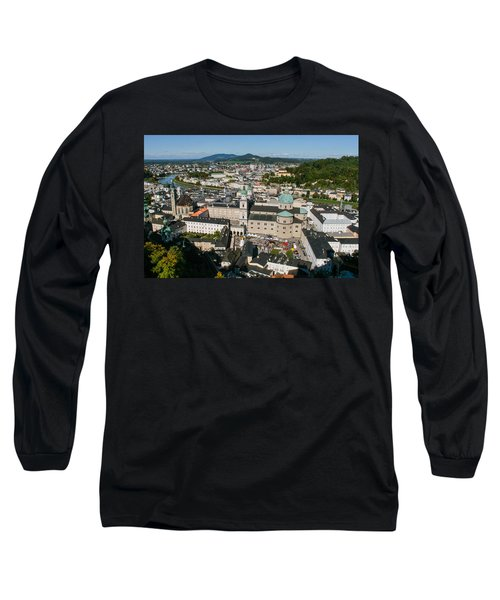 Long Sleeve T-Shirt featuring the photograph City Of Salzburg by Silvia Bruno