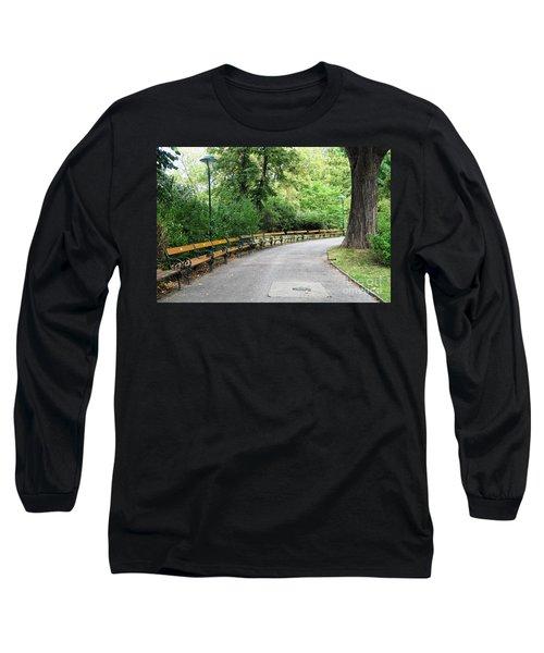 City Park, Vienna Long Sleeve T-Shirt by Christian Slanec