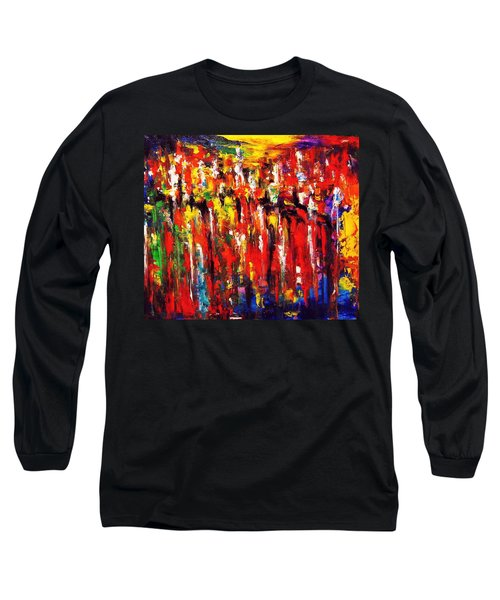 City. Series Colorscapes. Long Sleeve T-Shirt by Helen Kagan