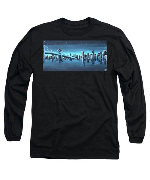 City Skyline Long Sleeve T-Shirt by Cyrionna The Cyerial Artist