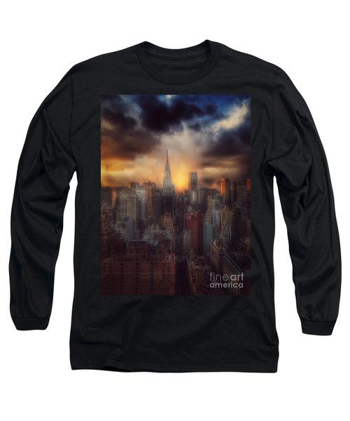 City Splendor - Sunset In New York Long Sleeve T-Shirt