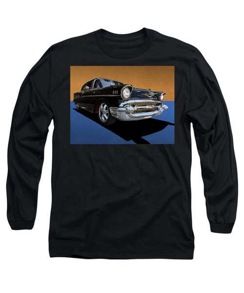 Classic Black Chevy Bel Air With Gold Trim Long Sleeve T-Shirt