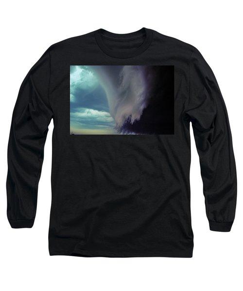 Classic Nebraska Shelf Cloud 029 Long Sleeve T-Shirt