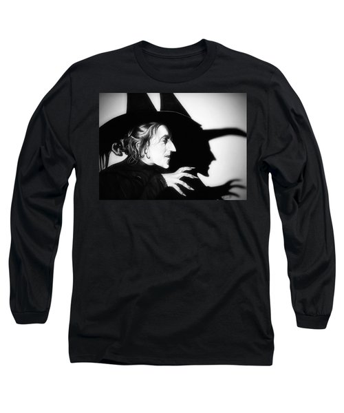 Classic Wicked Witch Of The West Long Sleeve T-Shirt by Fred Larucci