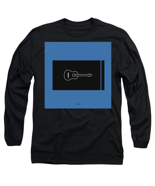 Classical Guitar In Blue Long Sleeve T-Shirt