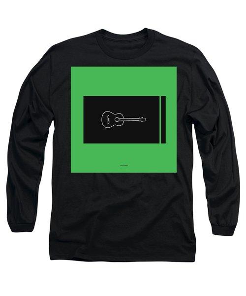Classical Guitar In Green Long Sleeve T-Shirt