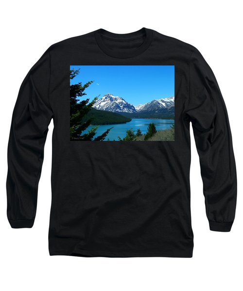 Clear Blue Lower Two Med Lake Long Sleeve T-Shirt