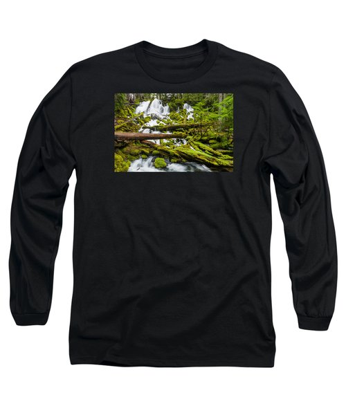 Clearwater Falls And Rapids Long Sleeve T-Shirt by Greg Nyquist