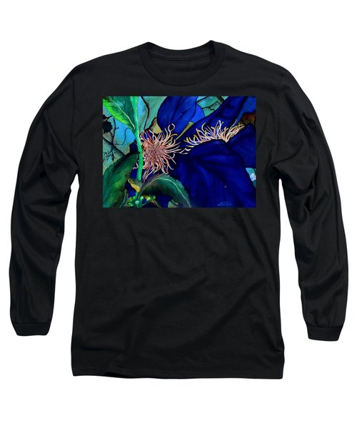 Clematis Regal In Purple And Blue Sold Long Sleeve T-Shirt