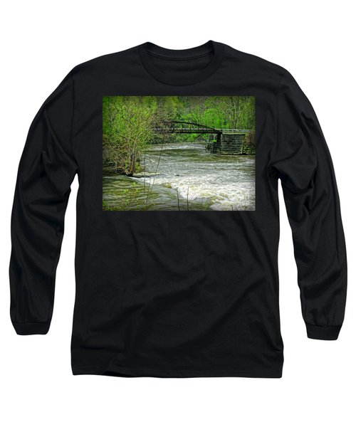 Cleveland Metropark Bridge Long Sleeve T-Shirt by Joan  Minchak