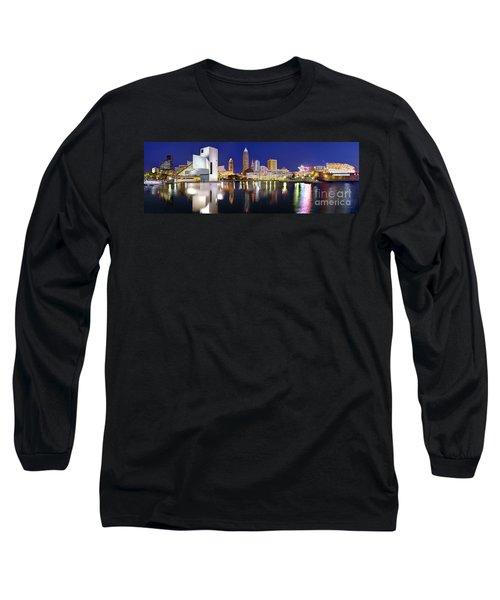 Cleveland Skyline At Dusk Long Sleeve T-Shirt