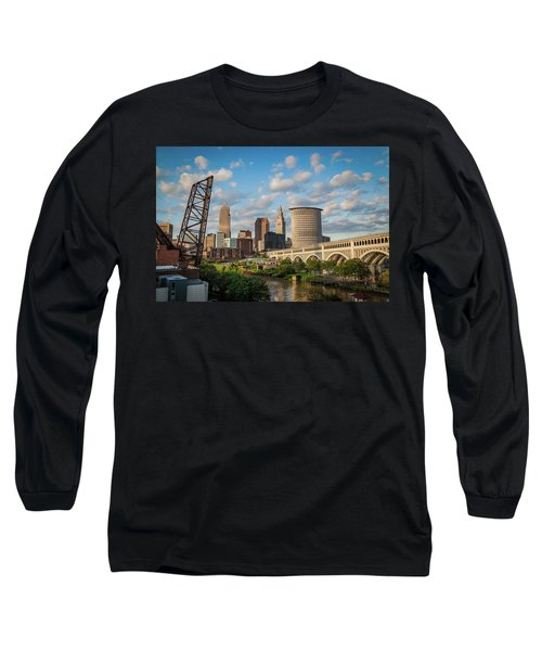 Cleveland Summer Skyline  Long Sleeve T-Shirt