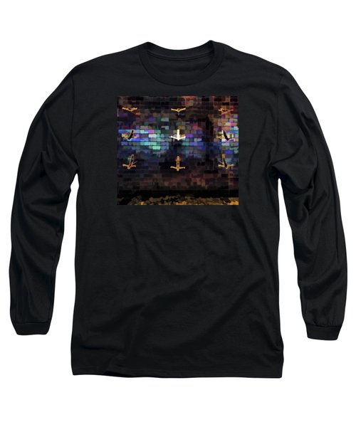 Long Sleeve T-Shirt featuring the photograph Cliff Diver Wall by Steve Siri