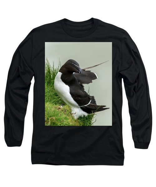 Cliff Edge 2 Long Sleeve T-Shirt by Nigel Wooding