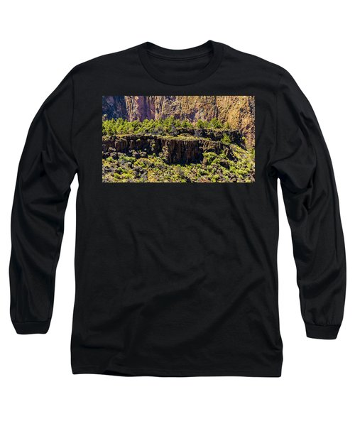 Long Sleeve T-Shirt featuring the photograph Cliff Edge by Jonny D
