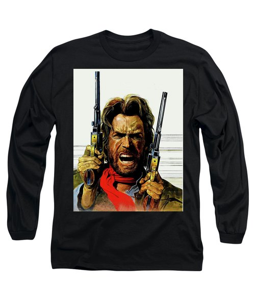 Clint Eastwood As Josey Wales Long Sleeve T-Shirt