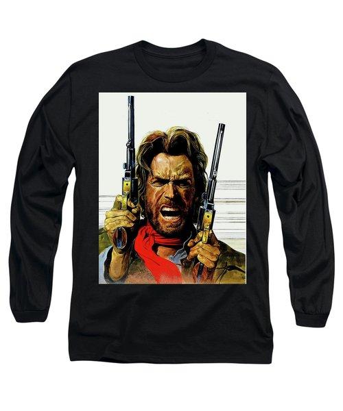 Clint Eastwood As Josey Wales Long Sleeve T-Shirt