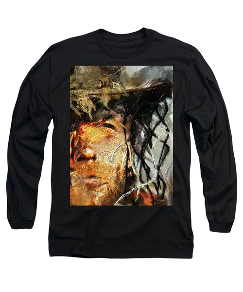 Clint Eastwood Long Sleeve T-Shirt by Michael Cleere