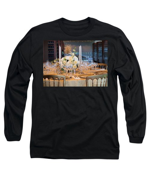 Clinton State Dinner 1 Long Sleeve T-Shirt by Randall Weidner