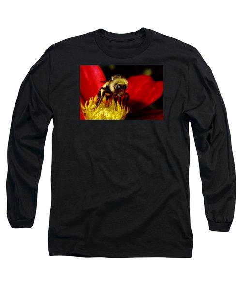 Close Up Bee Long Sleeve T-Shirt