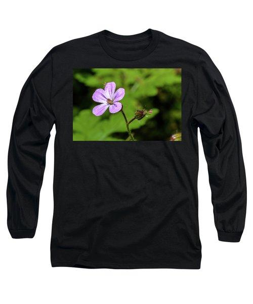 Close Up Of Shining Cranesbill A Long Sleeve T-Shirt